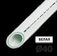 Труба PPR PN20 стекловолокно 40 TEBO белая 4/20 м, фото 1