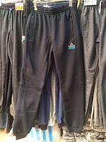 Брюки спортивные Reebok теплые на манжете темно-синие на флисе