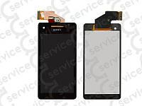 Дисплей для Sony LT25i Xperia V + touchscreen, чёрный