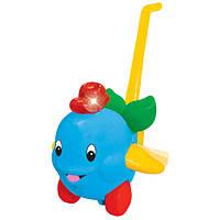 Игрушка-каталка ДЕЛЬФИН свет, звук, ассорти голубой, розовый Kiddieland (049577)
