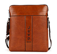 Мужская сумка Jeep 1518-1LB светло-коричневый, фото 1