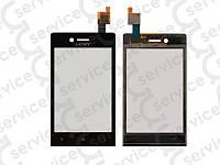 Тачскрин для Sony ST23i Xperia Miro, чёрный, оригинал (Китай) big ic(6mm)/ small ic(5mm)