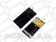 Дисплей для Xiaomi Mi3 + touchscreen, чёрный, с передней панелью