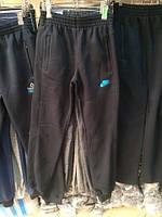 Спортивные брюки мужские Nike теплые на флисе на манжетах