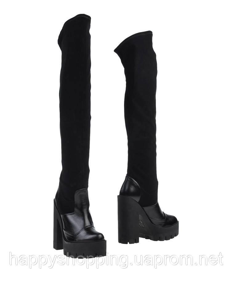 Черные сапоги-чулки STIÙ