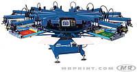 Полуавтоматическая карусельная машина трафаретной печати по текстилю M&R SPORTSMAN EX