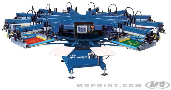 Полуавтоматическая карусельная машина трафаретной печати по текстилю M&R SPORTSMAN EX, фото 2