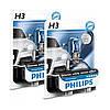 """Автомобильные галогенные лампы """"PHILIPS""""(H3)(White Vision)(4300K)(+60%)(12V)(55W)"""