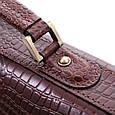 Кожаный мужской портфель ТМ-1 коричневый крейзи, фото 5
