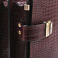 Кожаный мужской портфель ТМ-1 коричневый крейзи, фото 4