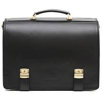 Кожаный мужской портфель ТМ-1 черный