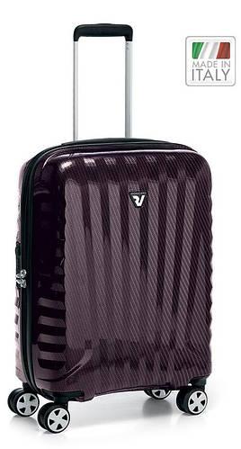 Чемодан прочный, пластиковый 4-колесный 41 л. Roncato UNO ZSL Premium 5173 0199 красный карбон
