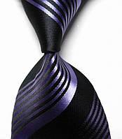 Классический мужской галстук с фиолетовыми полосами KAILONG