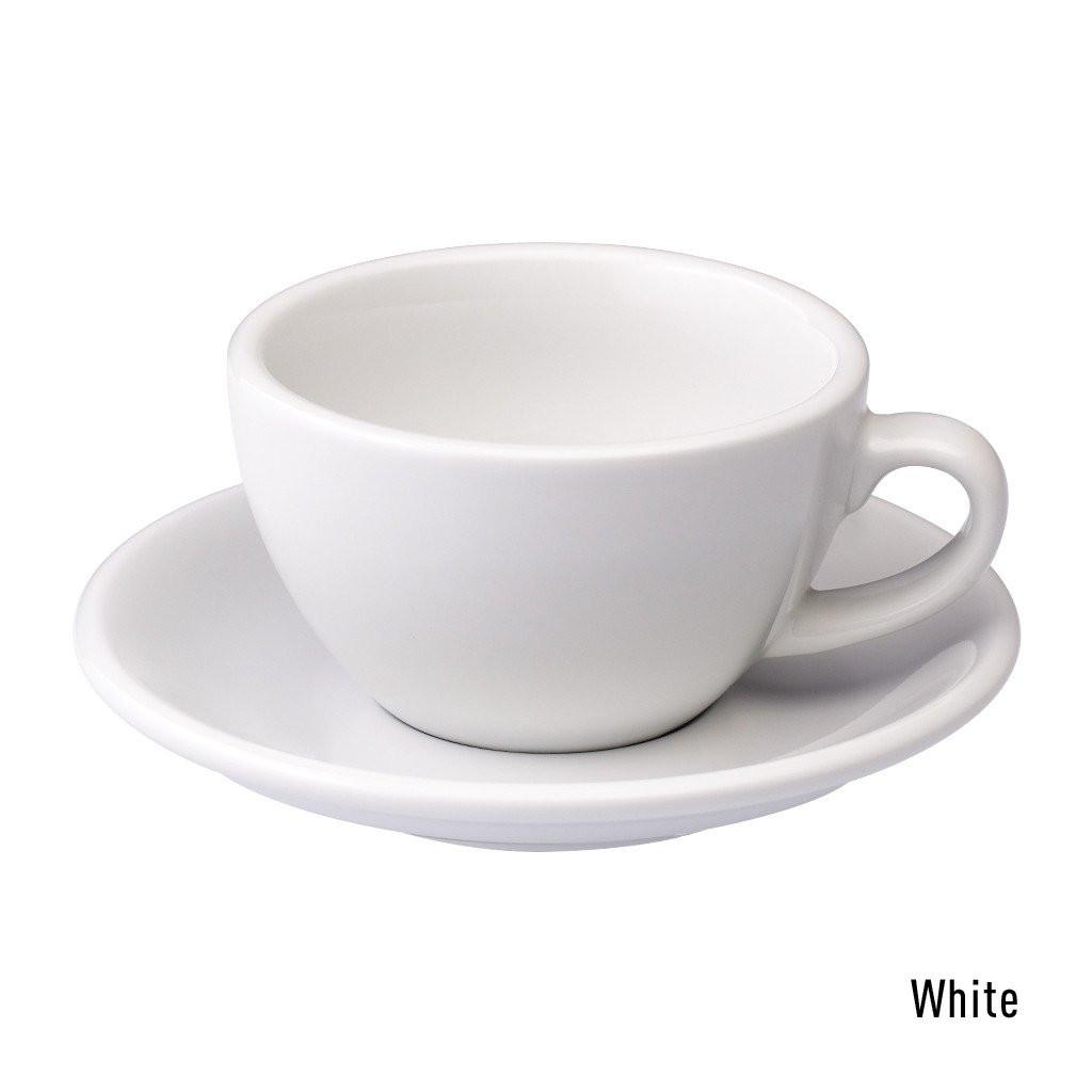 Набір чашка та блюдце для капучіно Loveramics Egg 200ml Cappuccino Cup & Saucer (white)