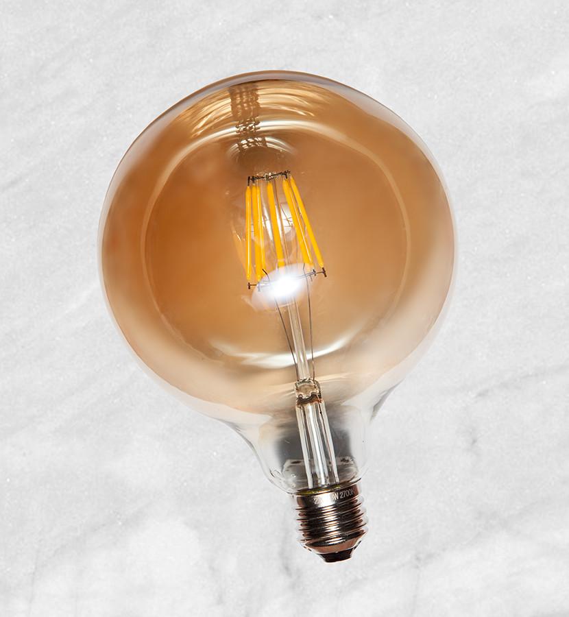 COW лампа LED G125 8W Amber 2300K E27 IC