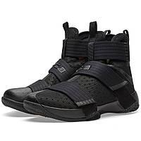 Оригинальные  кроссовки Nike LeBron Soldier 10 Black & Black
