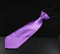 Галстук детский фиолетовый на резинке