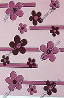 """Рельефный прямоугольный ковер Радуга """"Бусины-цветы"""", цвет розовый"""