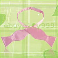 Классическая мужская розовая галстук-бабочка