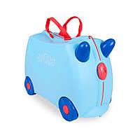 Детский чемоданчик на колесах  TRUNKI GEORGE PRINT HANDLES