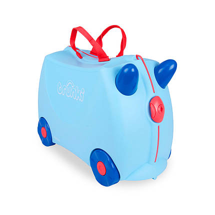 Детский чемоданчик на колесах  TRUNKI GEORGE PRINT HANDLES, фото 2