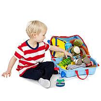 Детский чемоданчик на колесах  TRUNKI GEORGE PRINT HANDLES, фото 3