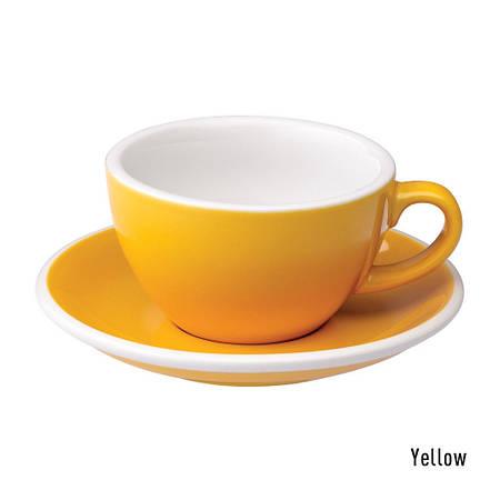 Набір чашка та блюдце для капучіно Loveramics Egg 200ml Cappuccino Cup & Saucer (yellow)