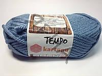 Пряжа Темпо (644-голубой),(Шерсть(25%),Акрил(75%)),Картопу(Туреччина),200(гр),80(м)