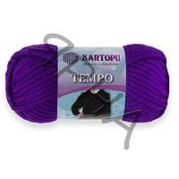 Пряжа Темпо (707-т.фиолетовый),(Шерсть(25%),Акрил(75%)),Картопу(Туреччина),200(гр),80(м)