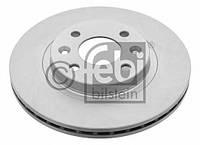 Диск тормозной передний (вентилируемый)  TRW DF2586; FERODO DDF1096, DRF1096; FEBI 09073 на Renault Twingo