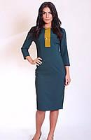 Женское платье с контрастной вставкой, фото 1
