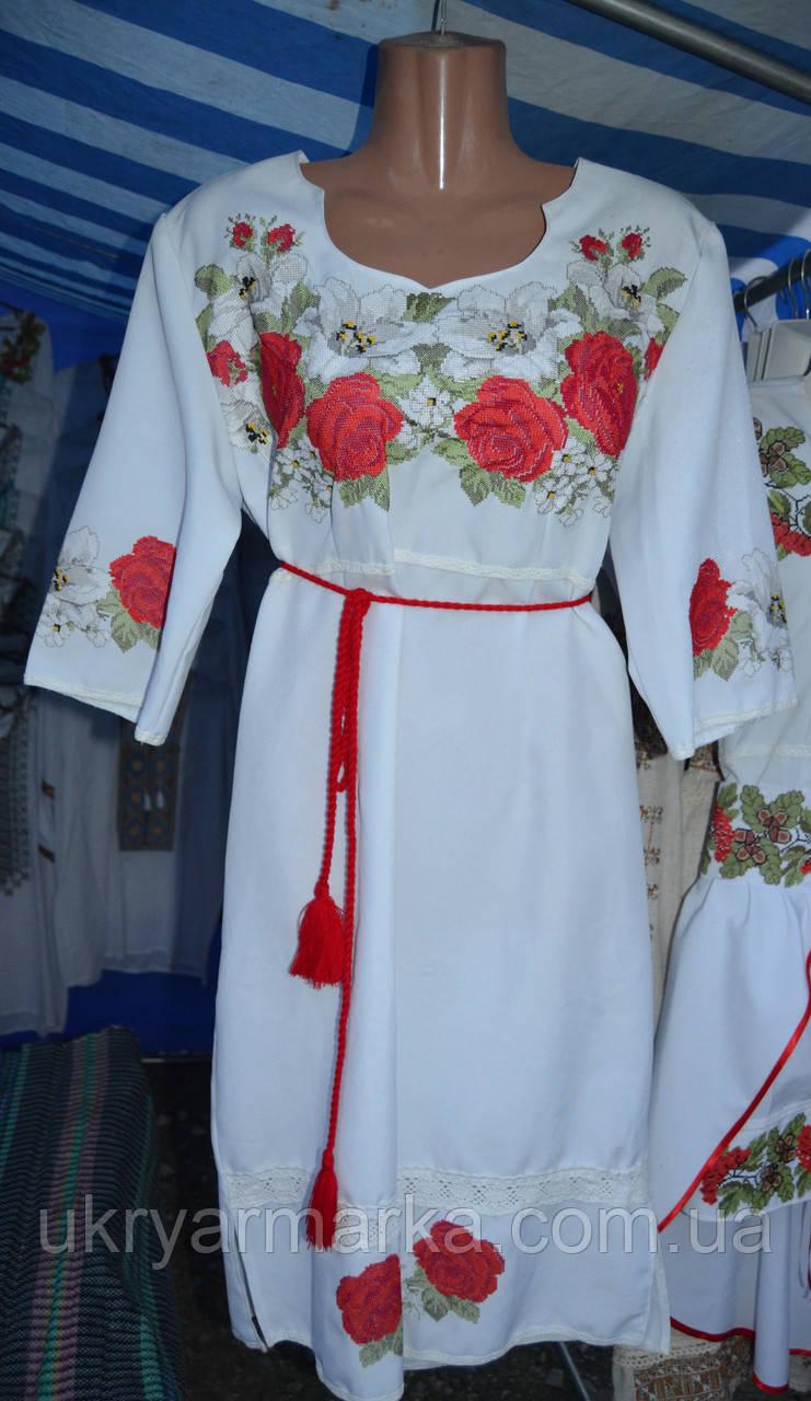 """Плаття вишите """"Небесні троянди"""""""