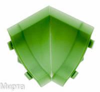 Бортик узкий стык внутренний зеленый 508