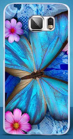 Чехол для Samsung Galaxy G920/S6 С картинкой Синяя Бабочка