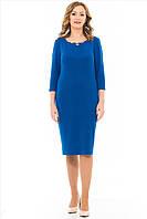Женское платье Лоя  больших размеров 52, 54, 56, 58 электрик
