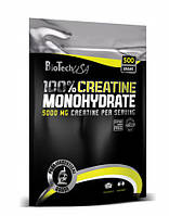 Микронизированный креатин моногидрат 100% creatine monohydrate Biotech пакет - 500g