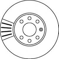Диск тормозной передний FERODO DDF1041; BREMBO 09762814, 09762875, 09762810, 09762811 на Opel Astra, Zafira
