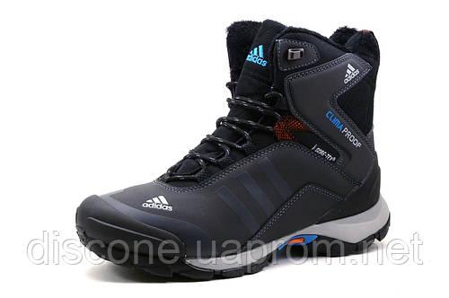 Кроссовки Adidas Climaproof, зимние, высокие, на меху, темно-серые