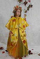 Плащ  и венок Королева Осень , осень, золотая осень, костюм листочек  прокат Киев, фото 1