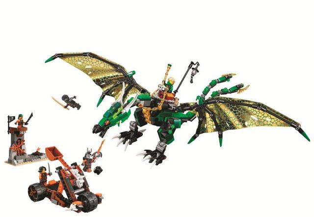 Детский конструктор Ниндзя - Bela 10526 Зелёный енерджи дракон