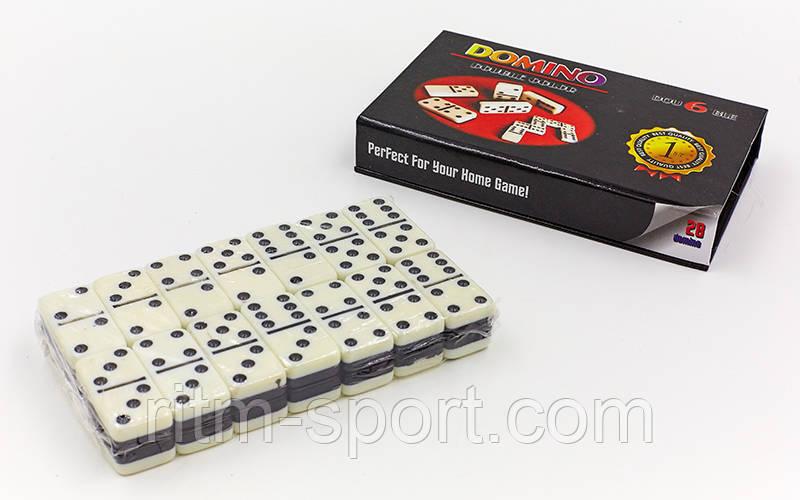 Настільна гра доміно в картонному футлярі (16 * 9,5 * 3,5 см)