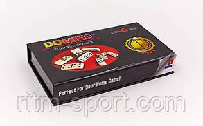 Настільна гра доміно в картонному футлярі (16 * 9,5 * 3,5 см), фото 3