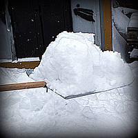 Лопата для снега оцинкованная