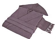 Махровий халат HAMAM MEYZER TASSELS LAVANDER розмір L/XL, фото 1