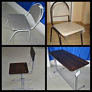 Столы и стулья (стулья для офиса, школы, ученические столы, журнальные столики, кухонные табуреты)
