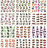 Водные наклейки для ногтей лист 363 животные мультяшки