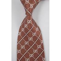 Галстук мужской оттенка коричневого в стиле Gucci Tie