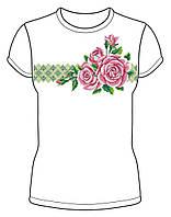 Жіноча футболка заготовка для вишивки бісером, нитками