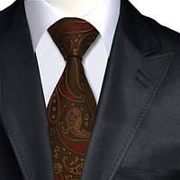 Галстук мужской коричневый с красным JASON&VOGUE