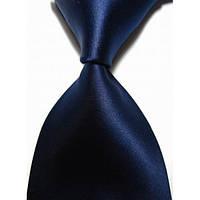 Галстук мужской классический темно-синий KAILONG